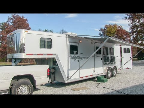 2003 Featherlite 8537 3 horse trailer w/ living quarters walk-around tutorial video