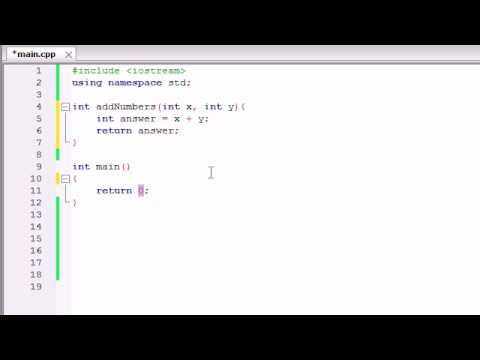 Buckys C++ Programming Tutorials - 11 - Functions That Use Multiple  Parameters