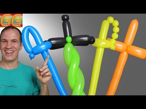 Espadas Con Globos - Como Hacer Una Espada Con Globos - Globoflexia - Figuras Con Globos
