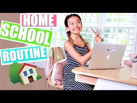 HOME SCHOOL MORNING ROUTINE  A day in my life 🏡📓