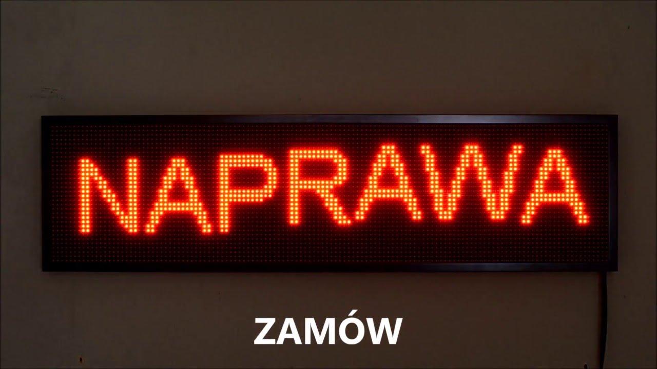 Aktualne Tablica LED 132x36cm wyświetlacz czerwony Reklama świetlna LED UX22