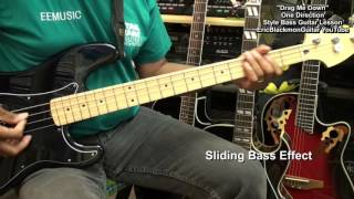 How To Play Drag Me Down Bass Guitar Lesson EEMusicLIVE