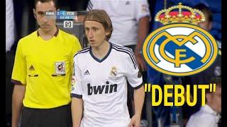 Debut de Luka Modrić, con el Real Madrid. vs FC. Barcelona (29/08/2012)