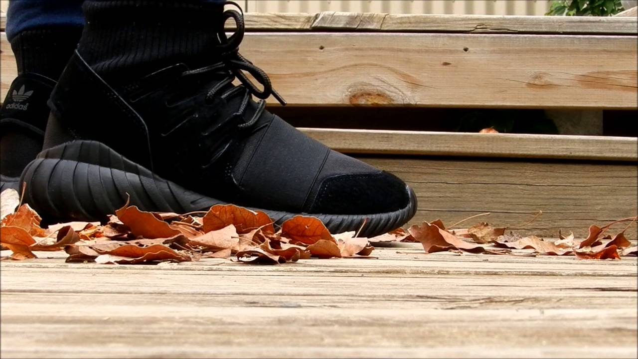 Adidas Tubular Doom Black On Foot