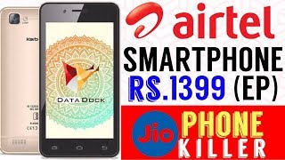 Airtel Launches 4G VOLTE Smartphone at Rs.1399 (Effect Price) With New Rs.169 Plan & Cash Back