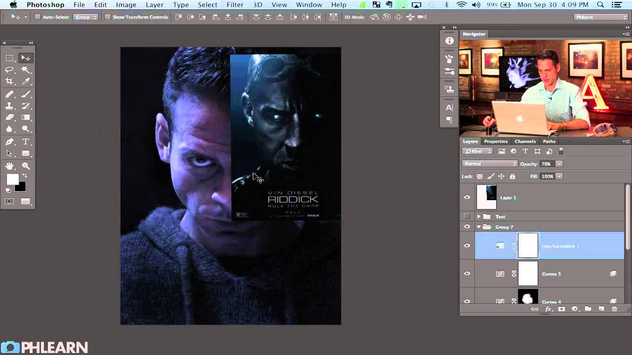 creating a movie poster in photoshop riddick part 1