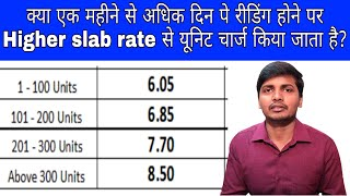 Energy charge is calculated with a higher unit slab rate When meter reading is not taken monthly