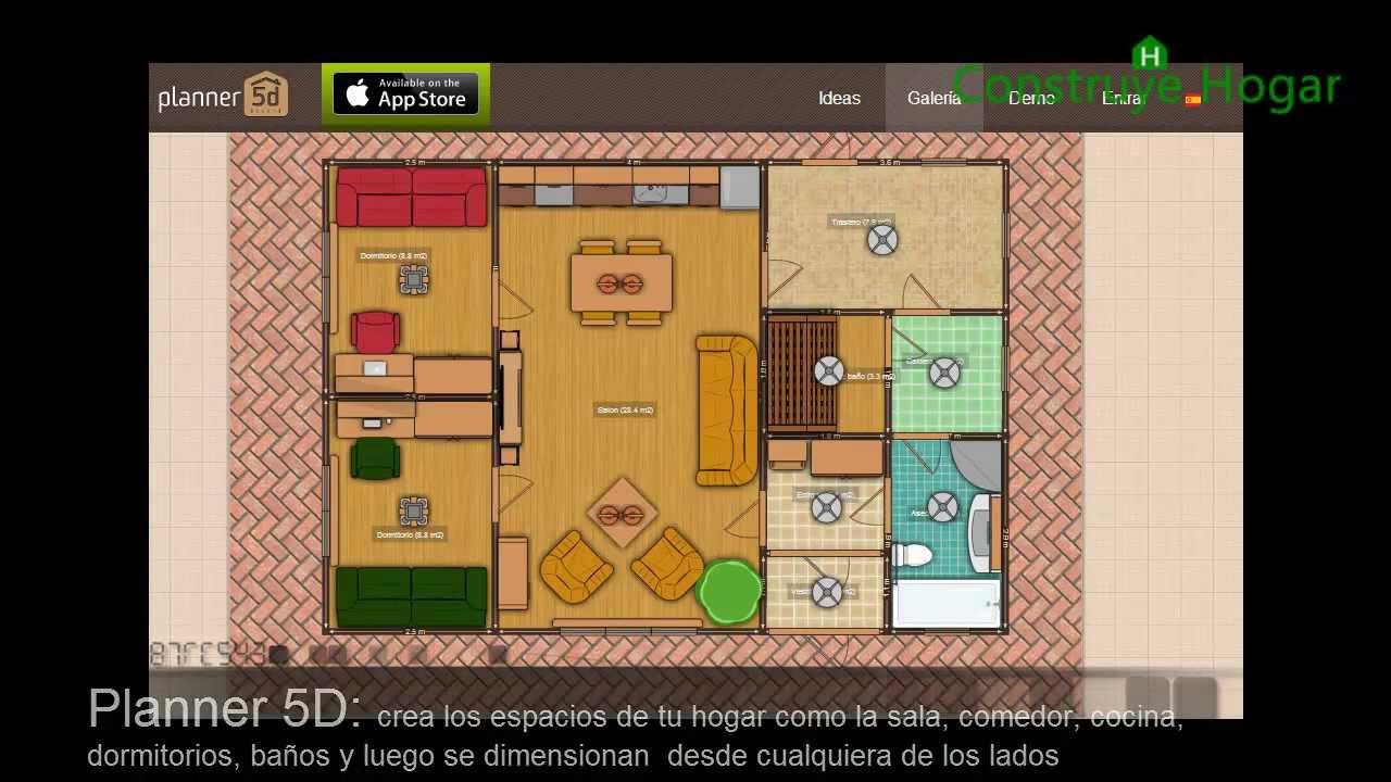 Aplicaciones online para hacer planos de casas gratis for Programa para disenar planos en 3d