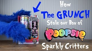How The GRUNCH Stole our BOX of Poopsie Sparkly Critters!