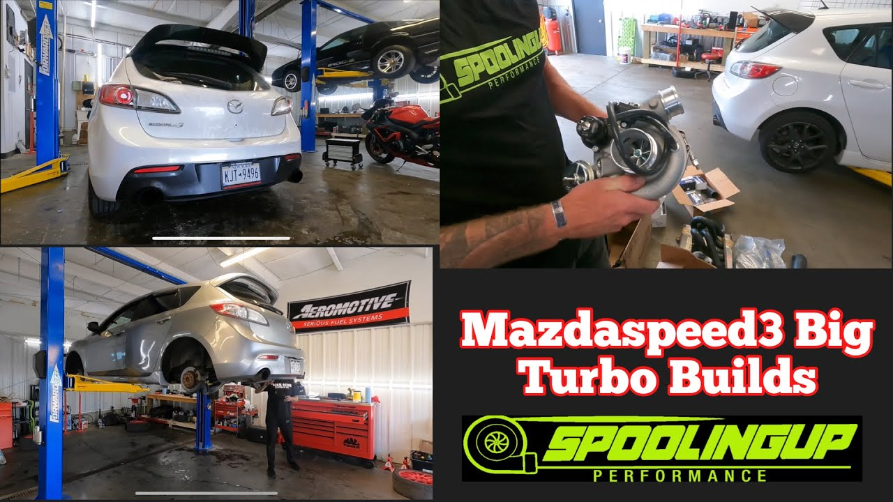 THE SHOP IS BUMPIN!  Two  Mazdaspeed3's In For Stock Block Big Turbo Builds!!