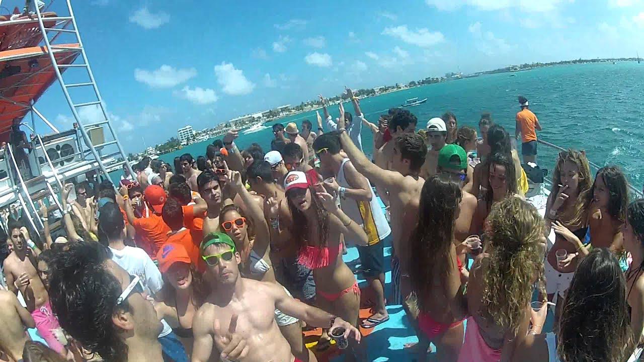 Cancun 2013 Xcape Fiesta Barco Isla Mujeres Youtube