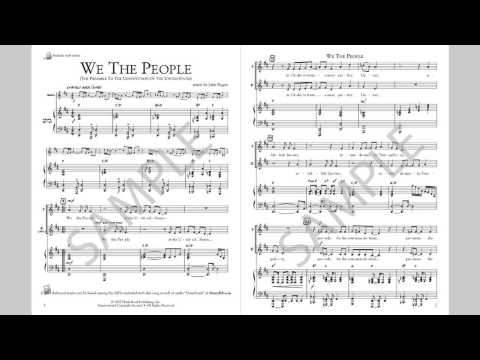 We The People - MusicK8.com Singles Reproducible Kit