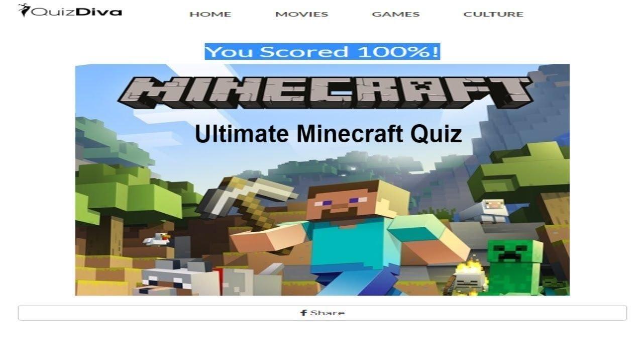 Ultimate Minecraft QUIZ 11% Score Quiz Diva 11 - YouTube