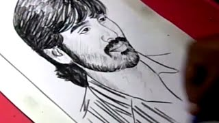 How to Draw Tamil Actor DHANUSH Drawing For Kids