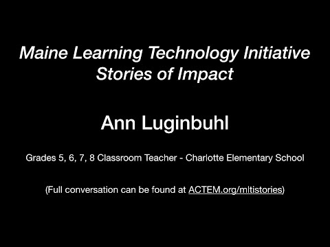 Ann Luginbuhl - One-to-one in a small rural school