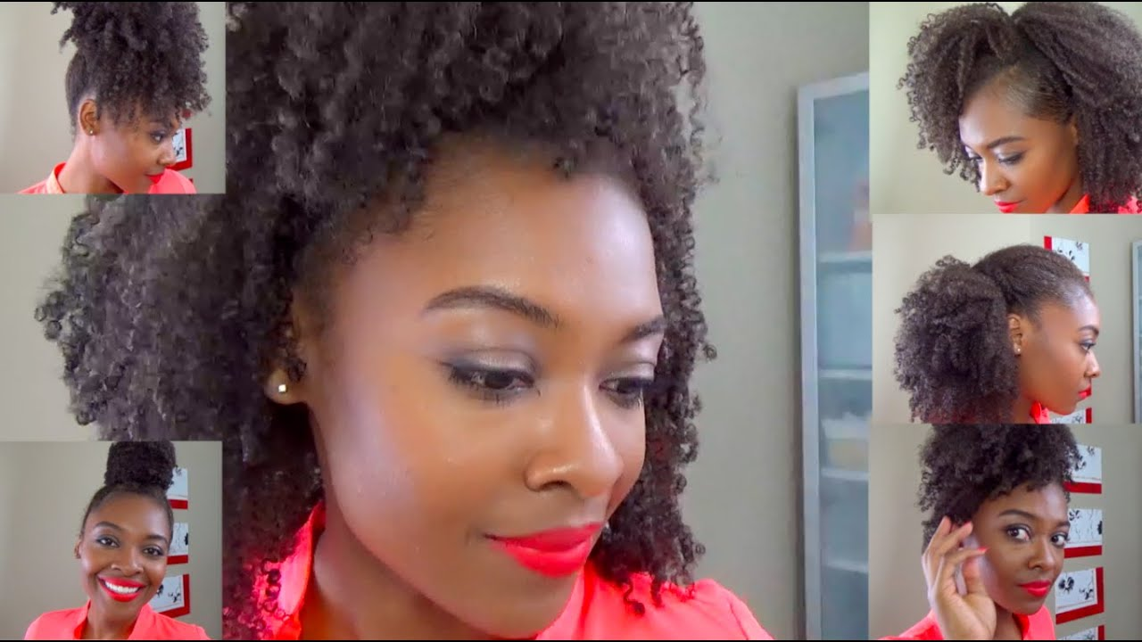 natural hair wash and go styles six easy hairstyles on an wash amp go for hair 1276 | maxresdefault