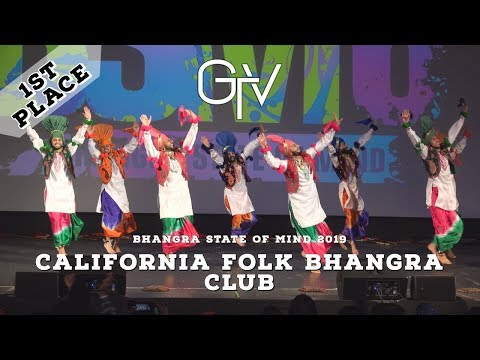 California Folk Bhangra Club – First Place – Bhangra State of Mind 2019