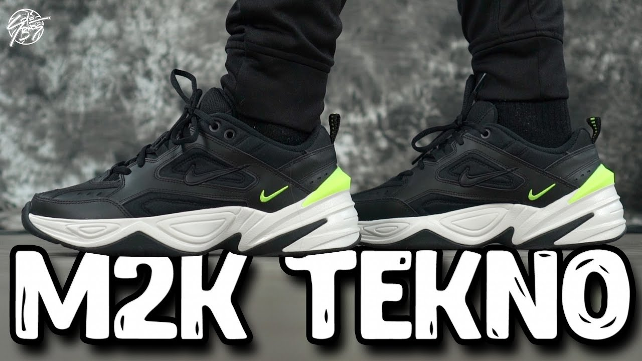 983e1de3073 Nike M2k Tekno Black Volt First Impressions!