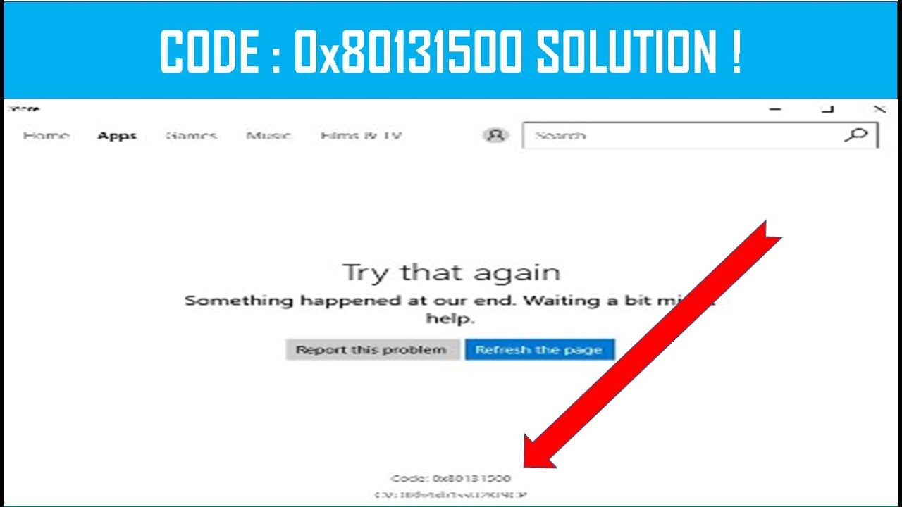 Fix Error Code 0x80131500 Microsoft Store Error in Windows 10 (100% Working  & Successfully Method)