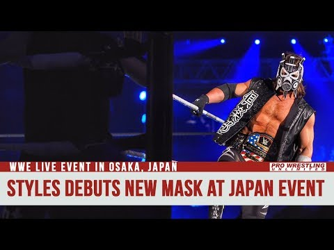 AJ Styles Debuts New Mask At Live Event In Osaka Japan (Video)