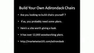 Are You Looking To Build An Adirondack Chair ?