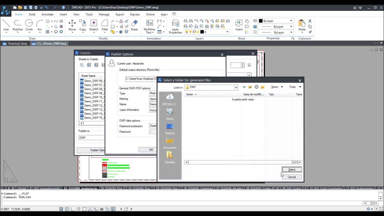 Como criar ficheiros DWF no seu Software CAD compatível com o formato  DWG