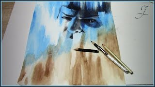 Spock - Star Trek Into Darkness | Speed Painting Drawing