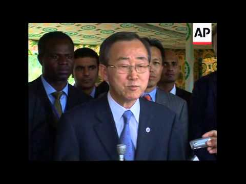 UN chief gets strong Libyan support in latest bid to solve Darfur crisis