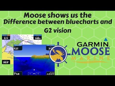 Comparing Garmin Marine Bluecharts AUS/NZ and G2 VISION