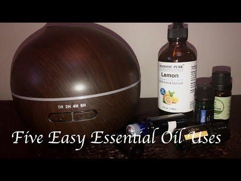 Five Easy Essential Oil Uses / Essential Oil DIY's