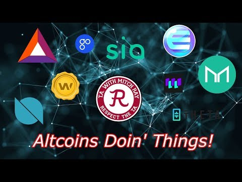 Altcoins Live : Bitcoin Continues Higher, BAT IOST CND LINK. Episode 416 - Crypto Technical Analysis