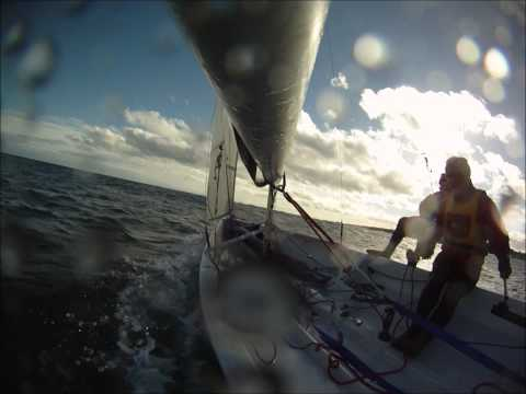 Topper Iso sailing in stonehaven bay ASYC