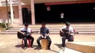 Cover Guitar - Cajon - Xinh tươi Việt Nam 10A4 - Hội Thi Văn nghệ 26/03/2016