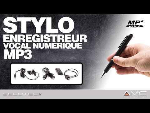STYLO ESPION ENREGISTREUR AUDIO NUMERIQUE MP3 [SECUTEC.FR]