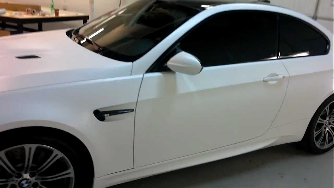 Restyle It 2011 Bmw M3 Matte White Wrap Youtube
