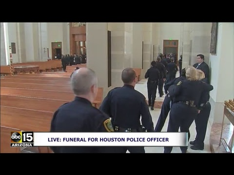 LIVE: Funeral for Houston police officer who drowned during Hurricane Harvey