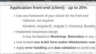 Node.js: Изисквания за курсов проект
