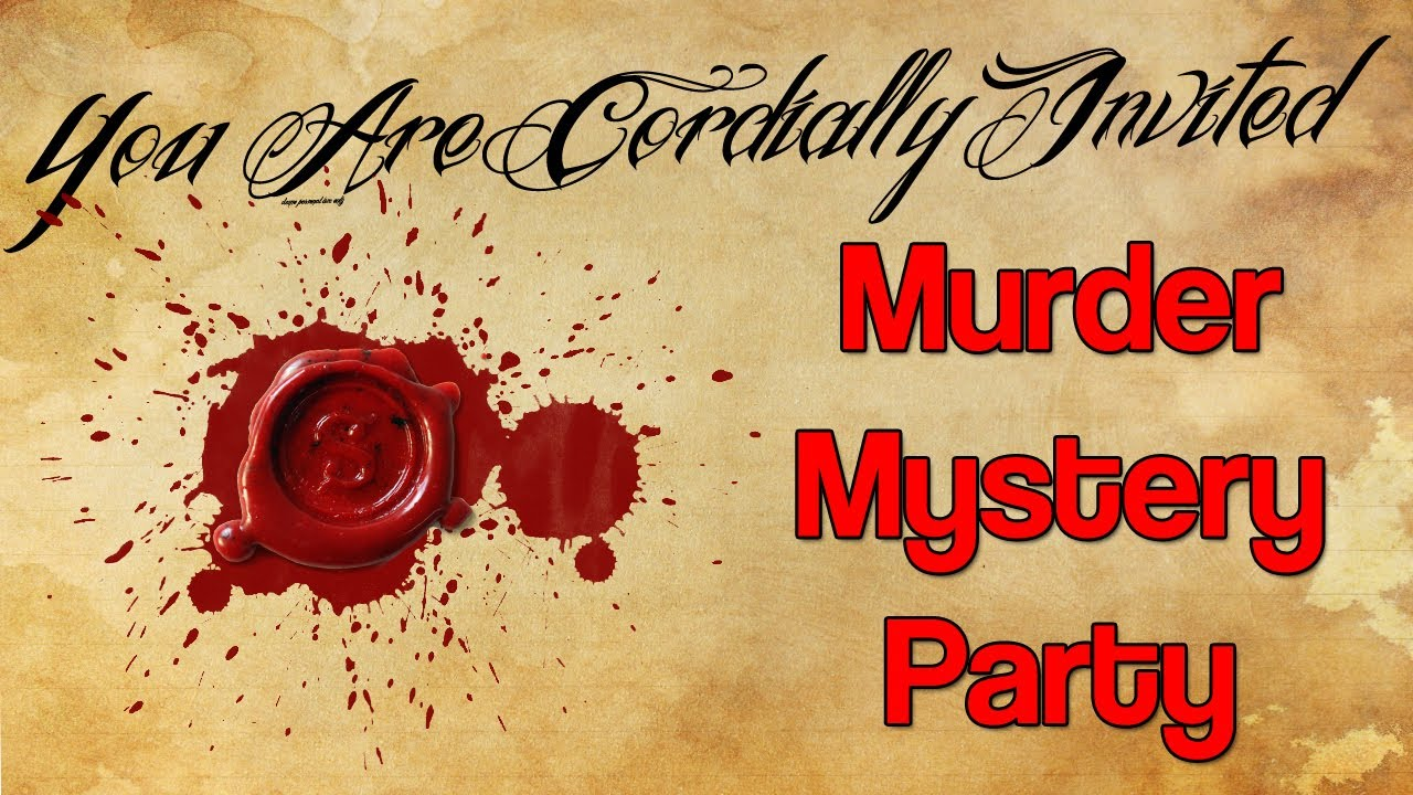 Image result for murder mystery party