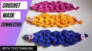Download Konektor masker rajut terbaru || ear saver for mask || how to crochet face mask connector