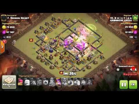 3star Kristian vs Demon heart. 29bowler .Cw. Grønnere gress clan war. clash of clans