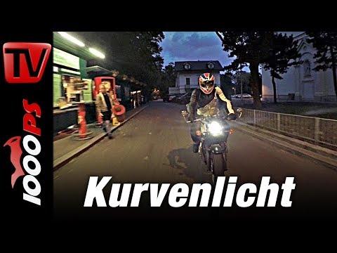 Motorrad Kurvenlicht J.W. Speaker 8790 Adaptive auf Triumph Thruxton 1200
