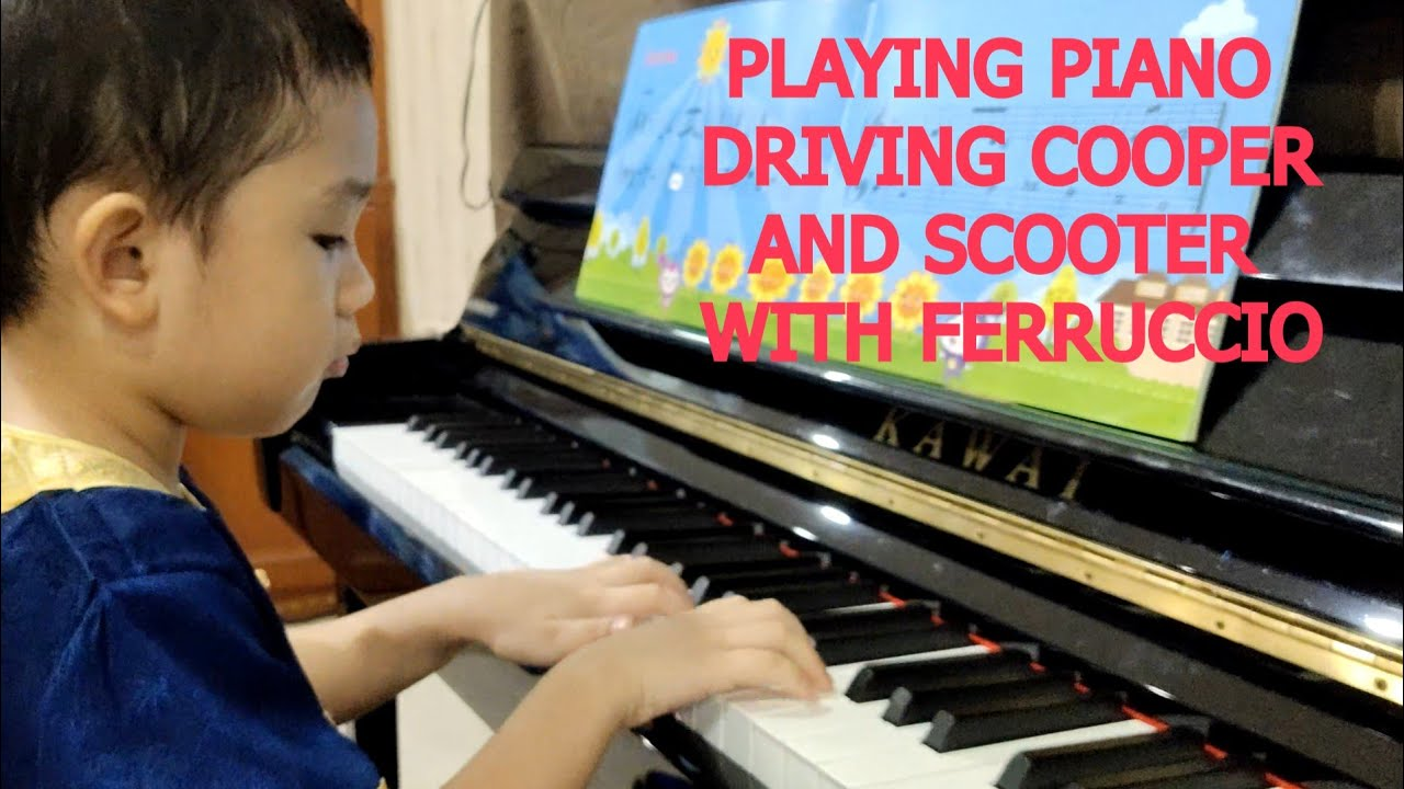 Play Piano Mini Cooper And Scooter