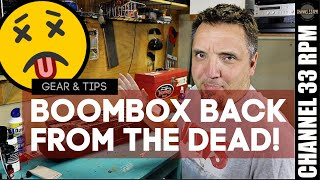 Bringing a 1980s cassette boombox back to life with Deoxit | Tape player maintenance