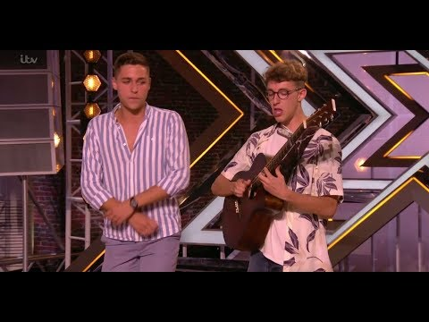 Jack & Joel: STUNNING Guitar Beatbox Ed Sheeran Medley | Auditions | The X Factor UK 2017