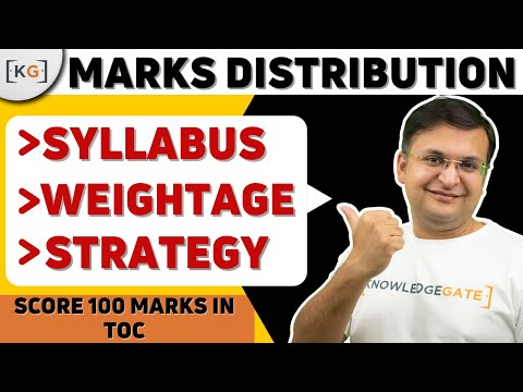 Marks Distribution | TOC | THEORY OF COMPUTATION | AUTOMATA | COMPUTER SCIENCE | part-9