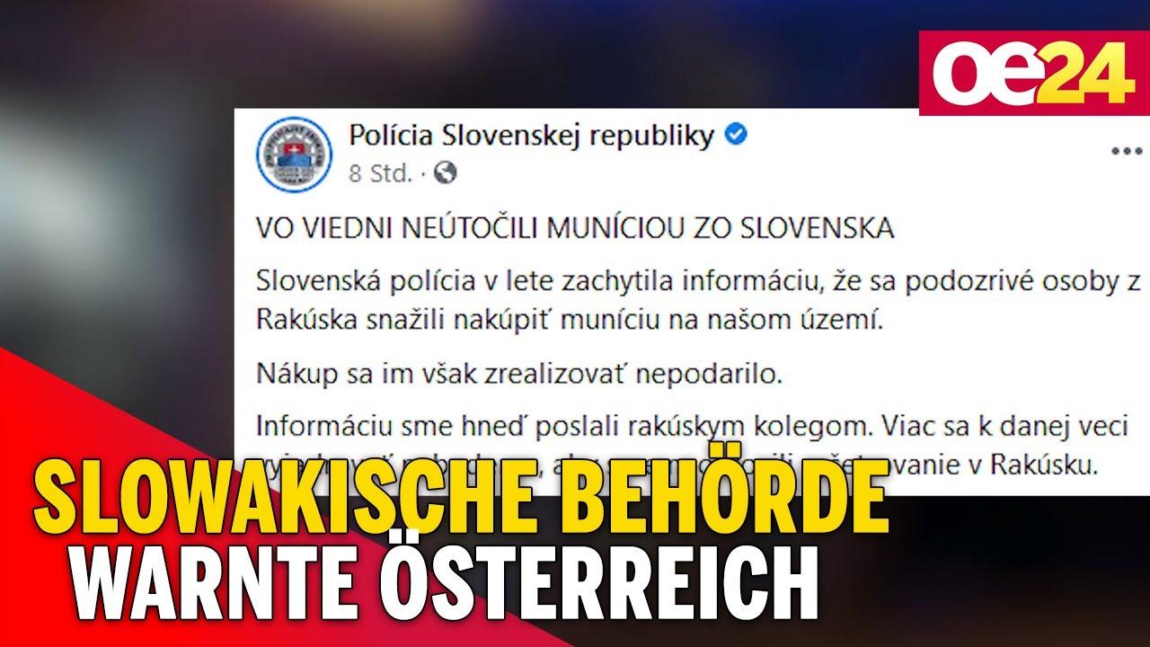 Terror in Wien: Slowakische Behörde warnte Österreich - YouTube