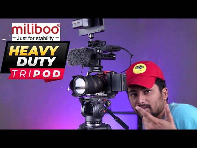 Miliboo MTT601A Aluminum Heavy Duty Fluid Head Camera Tripod Unboxing & Review