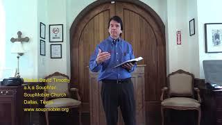 Episode 012   It's Okay to Finish Second,  Pastor David Timothy, SoupMobile Church