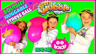 DIY GIANT FLUFFY SLIME STRESS BALL!  SQUISHY HUGGABLE Wubble Bubble | Soft & Squishy Squish Ball