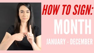 How To Sign Month & January December   Learn American Sign Language Asl